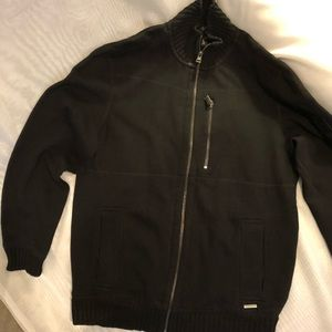 Calvin Klein Men's Black Full Zip Sweater